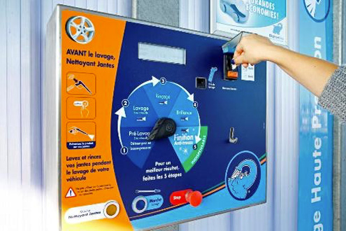 Carte Bleue Lave Linge.Jetons Carte Bancaire Monnaie Elephant Bleu